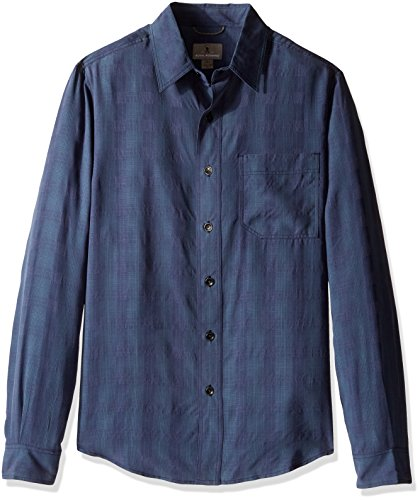 Royal Robbins San Juan Plaid Long Sleeve Shirt,NAVY,Medium