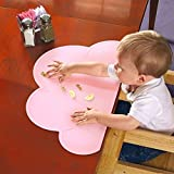 HANBUN Kids Silicone Cloud Placemat Dinnerware Table Mat Washable Portable Place Mat CA-HK040 (pink)