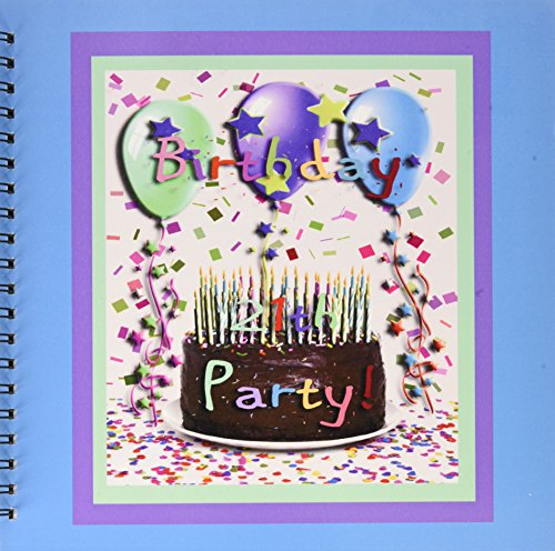 Album 12x12 Chocolate (3dRose db_20231_2 Birthday Party Chocolate Cake 21st Memory Book, 12 by 12-Inch)