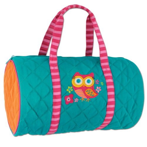 Stephen Joseph Girls 2-6X Quilted Duffle, Teal Owl, One Size