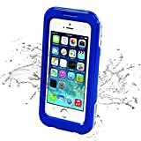 iPhone 5s Waterproof Case, iThrough 20ft Waterproof, Dust Proof, Snow Proof, Shock Proof Case with Touched Transparent Screen Protector,Protective Carrying Cover Case for iPhone 5/5s/4/4s (Blue)