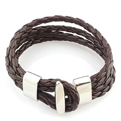 anazoz Jewelry Bracelet en cuir marron fashion femmes