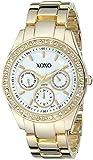 XOXO Women's Rhinestone Accent Tone Bracelet Watch White XO5302A