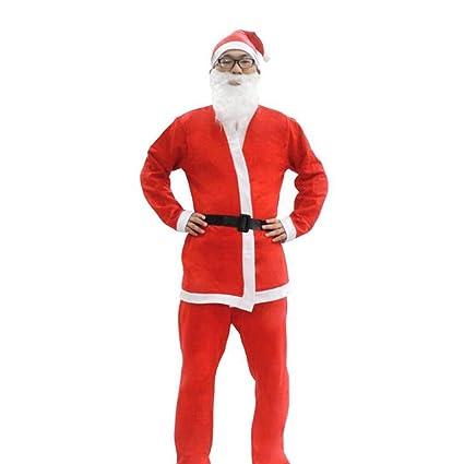 SANTA CLAUS CPOMPLETE 5 PCS Kostüme & Verkleidungen SET ADULT SIZE SUIT FANCY DRESS CHRISTMAS COSTUME Herrenkostüme