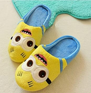 Amazon.com: Despicable Me Pantuflas De Algodón Minion ...