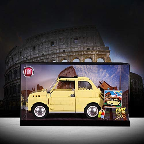 Acryl Vitrine Stofdichte Display Box Voor Lego Creator Expert Fiat 500 10271 (Alleen Display Box)