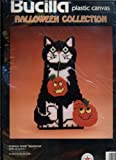 Bucilla Plastic Canvas Halloween Collection - Pumpkin Prize Doorstop - 8 1/2 By 12 1/2 Inches - Designed By Bonnie Smith