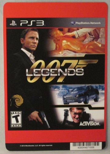 BACKER CARD FOR: 007: LEGENDS - PS3 - (Not The Video Game) (Bond 007 Legends)