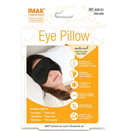 IMAK Compression Pain Relief Mask and Eye Pillow, Cold Therapy for Headache, Migraine, and Sinus Pain, Patented, Universal Size by Brownmed (Image #2)