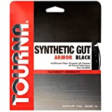 Tourna Synthetic Gut Armor Racket String, 16gm Set, Black