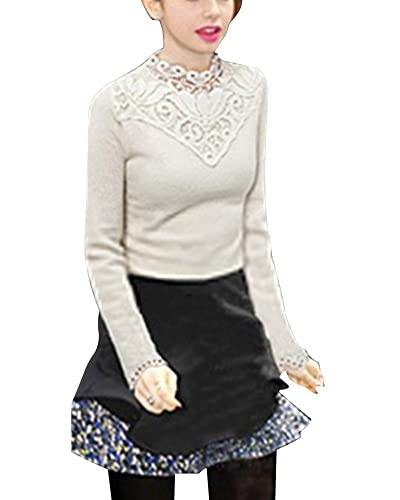 Mujer Camisetas De Manga Larga Blusa Camiseta Del Cordón