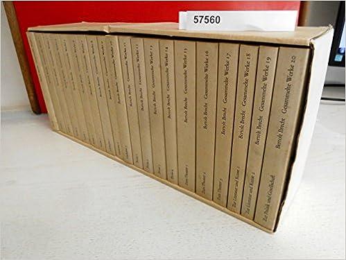 Gesammelte Werke In 20 Bänden Bertolt Brecht 9783518009154
