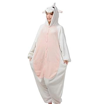 JYSPORT unicornio pijama Unisex forro polar Pegasus con alas con capucha pijama para Ladie, hombre