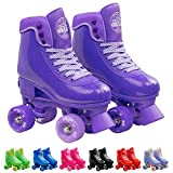 Infinity Skates Adjustable Roller Skates for Girls and Boys - Soda Pop Series (Purple/Small)