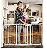 Baby : Regalo Extra Wide Wide Span Pet & Baby Safety Security Gate with 3 Extensions White - For a Doorway, Balcony, Top and Bottom of Staircases or a Wide Hall | Great Baby Shower Gift