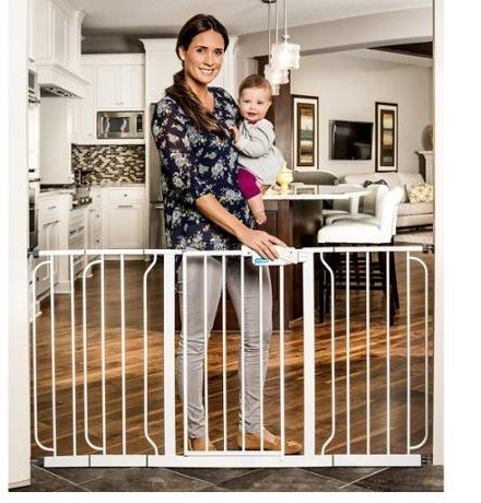 51EYBeuc2BL   Regalo Extra Wide Wide Span Pet U0026 Baby Safety Security Gate  With 3 Extensions