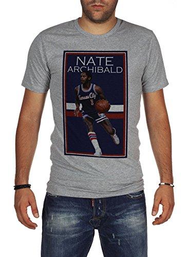 - Palalula Men's Basketball Kansas City Kings Nate Archibald Tribute T-Shirt S Grey