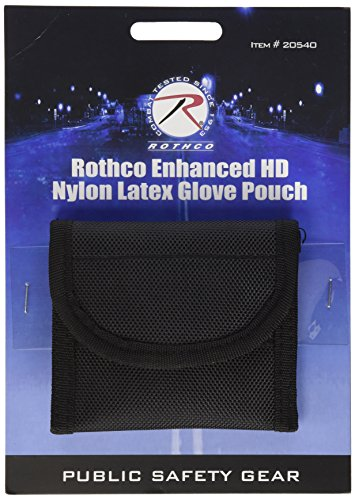 Tri Fold Belt - Rothco Enhanced Molded Latex Glove Pouch, Black