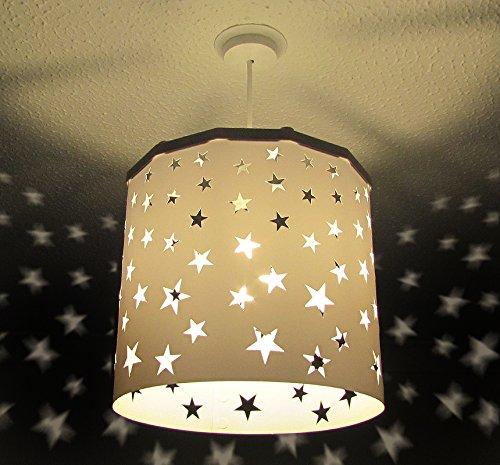 Pantalla Lámpara Colgante Estrellas Blancas (otros colores ...