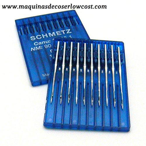 Agujas Schmetz maquinas de Coser 1738 industriales DBx1 Redondas Originales (Grueso 100): Amazon.es: Hogar