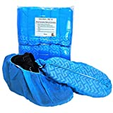 XL Disposable Boot Shoe Covers - Fits All Shoe Sizes From Size 5 to 15 - Made for Extra Large Wide Shoes and Work Boots - 100 Booties Per Pack