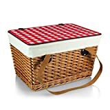 Picnic Time Canasta Basket with Red Check Lid, Grande Review
