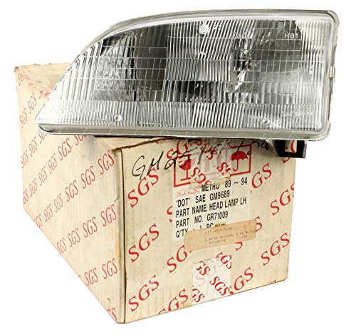 1 Factory Radio NEW Single Left Head Lamp Light Compatible With 1990-94 Pontiac Firefly 96065339