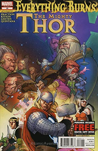 Mighty Thor, The #22 VF/NM ; Marvel comic book (Thor Lady Sif And The Warriors Three)