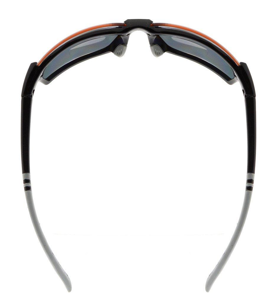 Gr8Sight Sun Lisez des lunettes de soleil de lecture bifocale Lunettes anti-éclaboussures UV400 anti-éclaboussures Wraparound Designer Style Sports Noir Cadre Gris Lentille +1.00 sRhjNCucVl