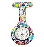 Boolavard® TM Nurses Fashion Coloured Patterned Silicon Rubber Fob Watches - Colourful Bubbles