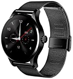 Diggro K88H Bluetooth Smart Watch Heart Monitor Smartwatch Black Stainless Steel