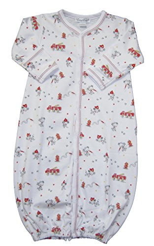 Kissy Kissy Baby-Boys Infant Fire Chief Print Convertible Gown-Multicolored-Newborn