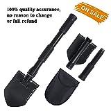 FRUITEAM Multifunctional Folding shovel Entrenching Tool, Military Grade, for Camping, Gardening.