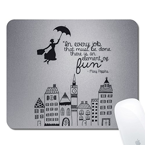 "Onelee Disney Rectangular Non-Slip Rubber Gaming Mouse Pad 9.45"" x 7.88"" x 0.79"" (Mary Poppins)"