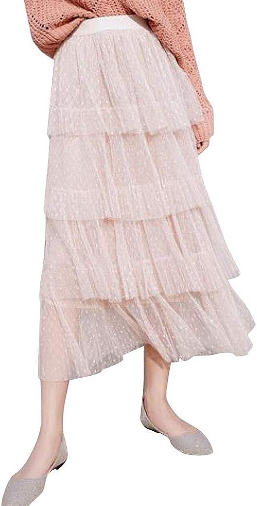 Shaoyao Mujer Falda De Tul Plisada Faldas para Boda Noche Fiesta ...