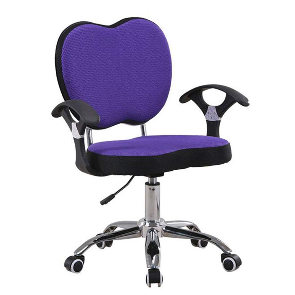 Mesh Task Office Chair Computer Adjustable Ergonomic 360° Swivel Purple Armrest