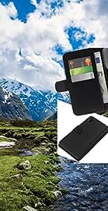 LECELL--Cuero de la tarjeta la carpeta del tirón Smartphone Slots Protección Holder For Sony Xperia Z2 D6502 -- Paisaje de la nieve de la montaña --