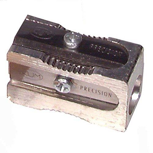 Kum 104.03.01 Magnesium Alloy Metal 1-Hole Steel Blade Rectangular Pencil Sharpeners by Kum
