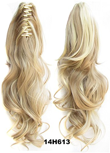 - Curly Claw Clip Ponytail Extension Synthetic Clip in Ponytail Hairpiece Jaw Clip Hair Extension #14H613