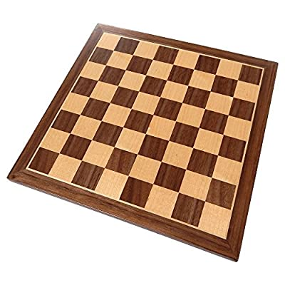 Best Chess Set Chronos Chess Board with Inlaid Walnut Wood – Board Only – 11 Inch