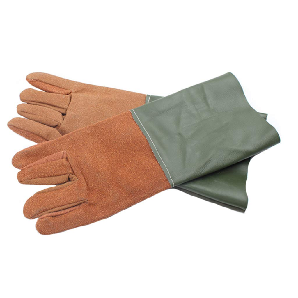FYCZ Handschuh Schweißhandschuhe, Hochtemperaturbeständige Lange Wärmeisolierung Feuerfeste Schnittfeste Arbeitshandschuhe