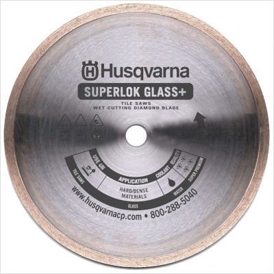 "Superlok Glass + Premium Diamond Blades Size: 8"" x 0.065"""