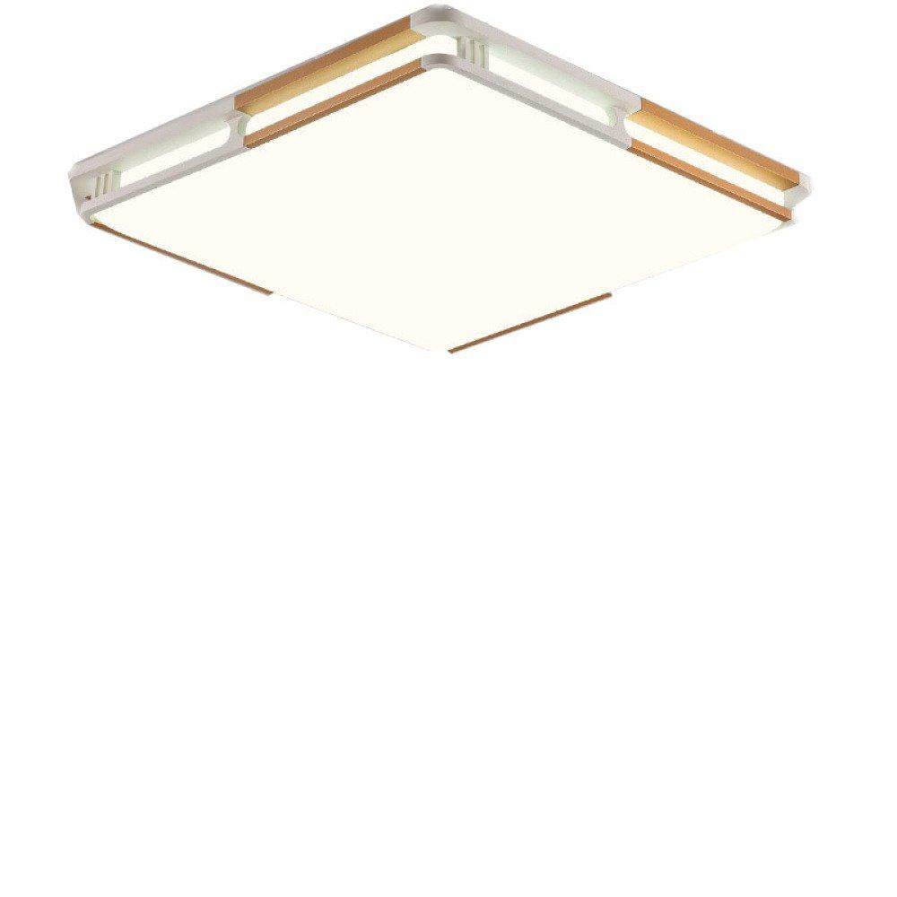 HK Plafoniera a LED rettangolare minimalista moderna,oro + bianco,30  30 luce bi