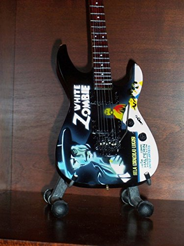 Mini Guitar METALLICA KIRK HAMMETT White Zombie Display
