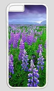 Beautiful Lavender Field DIY Hard Shell Transparent Best Designed iphone 6 plus Case