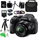 Panasonic LUMIX DMC-FZ300K 4K FZ300, Point and Shoot Camera with Leica DC Lens 24X Zoom, (Black) + 64GB SD Memory Card + Card Reader & Deluxe DigitalAndMore Accessory BUNDLE