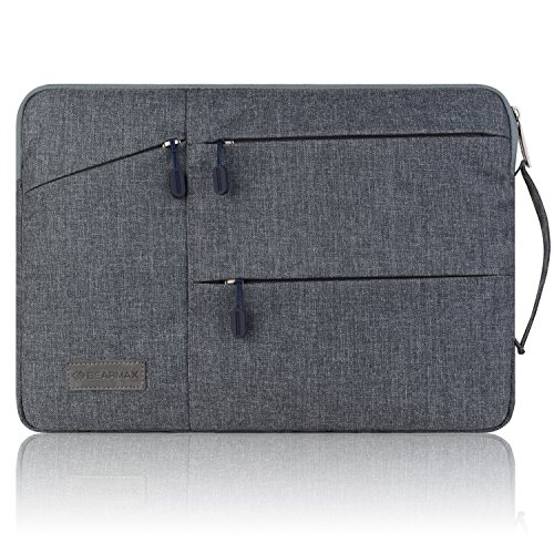 Gearmax(TM) Travellers Multi-functional Nylon Water Resistant with Side Pockets Laptop Handbag for 15.4 Inch Macbook Air Pro / Notebook / Surface / Dell Sleeve Case Cover Bag (15.4 Inch,Gray) (Cool Anime Bookbag compare prices)