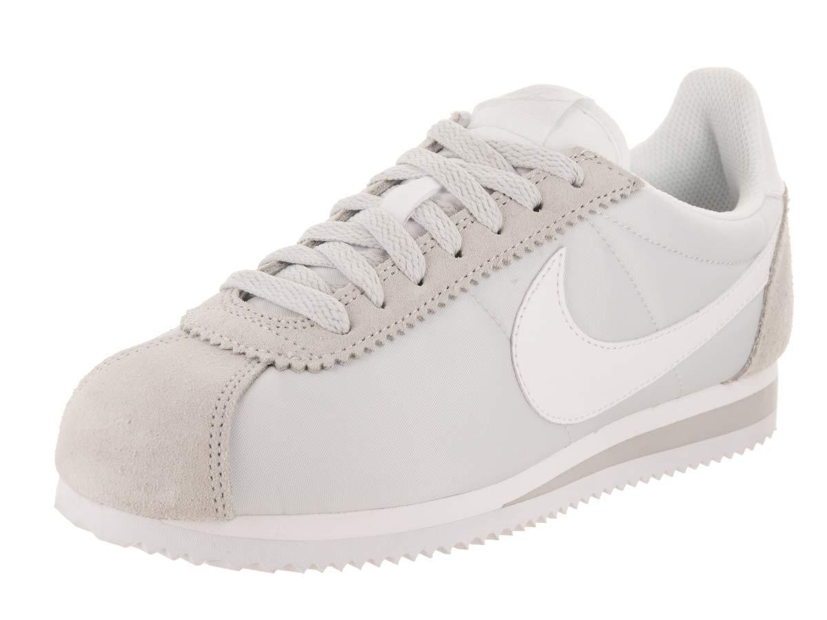 c0a2c8bc4e13 Galleon - NIKE Women s Classic Cortez Nylon Pure Platinum White Casual Shoe  6 Women US