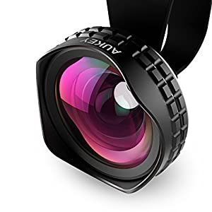 AUKEY Ora iPhone Lens, 0.63x 110° Wide Angle Clip-on Cell Phone Camera Lenses for Samsung, Android Smartphones, iPhone