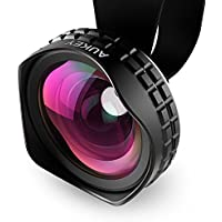 Aukey 110 Wide Angle Clip-on Cell Phone Camera lens for Samsung, Android Smartphones, iPhone